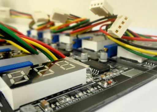PCI componentes SMD e PTH
